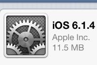 Apple、iPhone 5のみ対象としたiOS最新バージョン「6.1.4」を配信中!