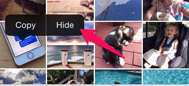 iOS 8 では共有先のカスタマイズや、恥ずかしい写真を非表示にできる機能が追加に