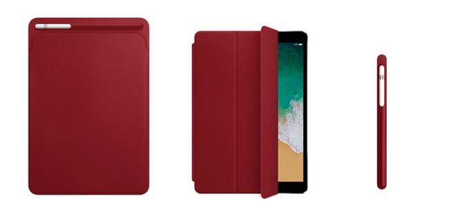 iPad Pro 10.5用スマートカバーやApple Pencilケースなどに「(PRODUCT)RED」カラーが追加