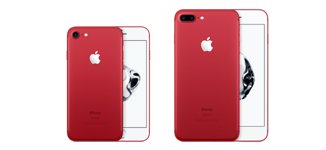Apple公式サイトにてiPhone 7/7 Plus (PRODUCT)RED Special Editionの販売が開始