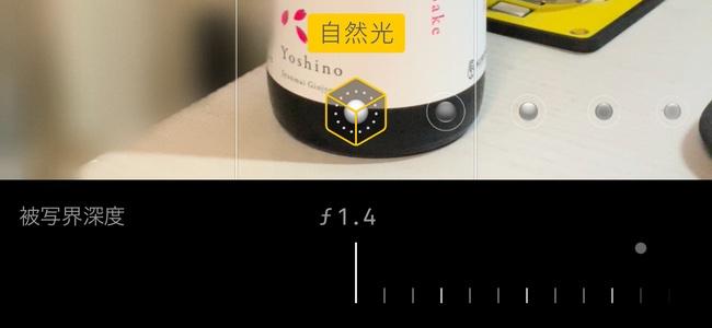 iOS 12.1の新機能、iPhone XSiPhone/XS Maxカメラのプレビューでリアルタイムに被写界深度を調節する方法