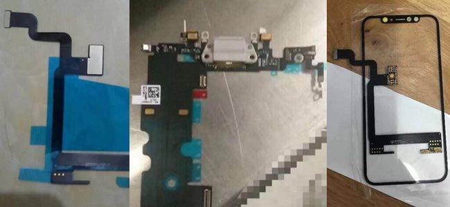 iPhone 8の部品とされる写真が流出。前面パネル以外に内部ケーブルやLightningコネクタなど