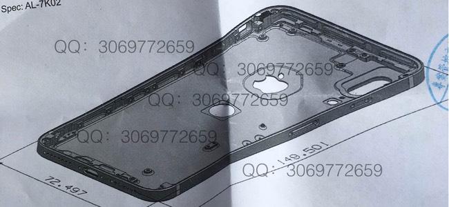 iPhone 8のデザインの1つとして背面アルミケースにTouch IDを搭載、縦並びデュアルレンズカメラの図面が登場