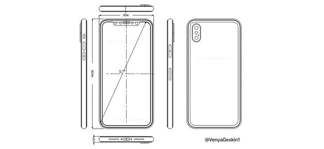 iPhone 8のものとされる新たな図面画像が登場。電源ボタンと音量ボタンに謎の切れ目