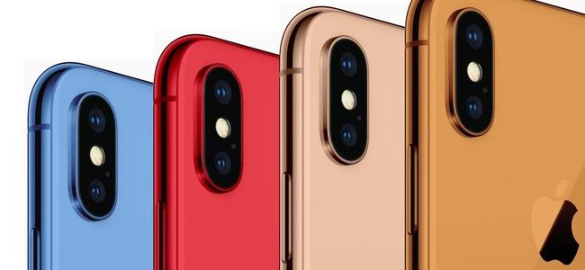 6.1インチの新型iPhoneは5色(グレー、ホワイト、ブルー、レッド、オレンジ)展開で6.5インチはブラック、ホワイトに加えてゴールドが追加される?