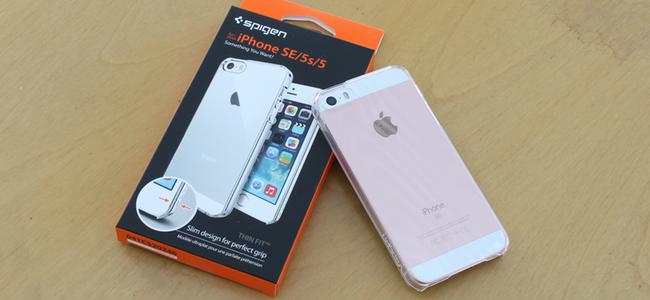 シンプルにしてベスト!iPhone SEケース「Spigen シン・フィット」レビュー!