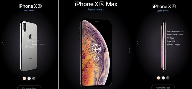 Appleが「iPhone XS」「iPhone XS Max」を360度回転させて外観をチェックできる新たな特設サイトを公開中