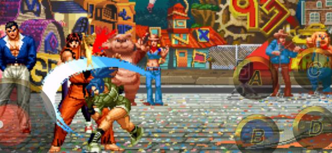 バーチャルパッドを拡縮できる「THE KING OF FIGHTERS '97」は、快適な操作感が魅力!