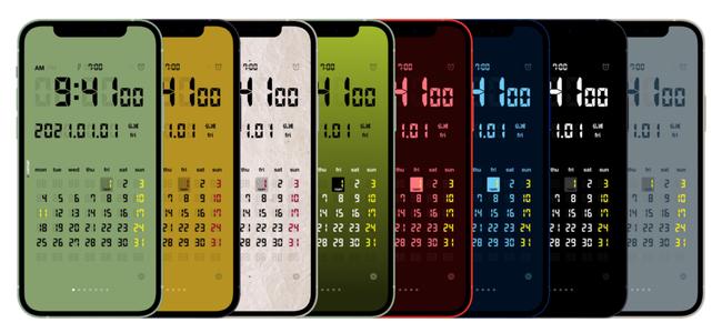 デジタルクロックアプリ「LCD Clock」がアップデート。2021年度の祝日及び六曜の更新やiOS 14対応、開発者支援機能も追加。2008年リリース以来、13年に渡るサポート継続