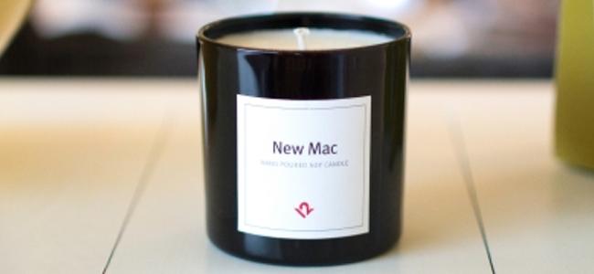 Macを買った者だけが味わえるあの香りをずっと。新品Macを開封した時の匂いがするキャンドル現る