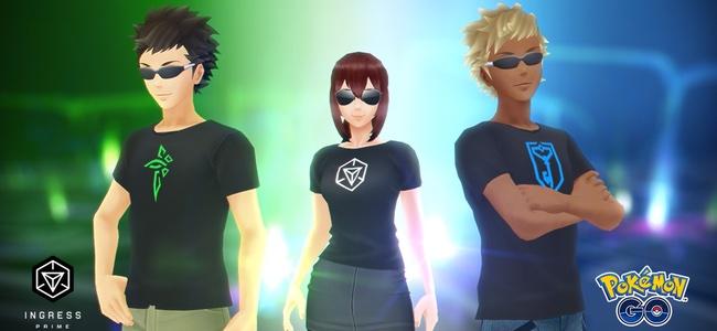 【ポケモンGO】Pokémon GOの元となったIngressが大幅アップデートを記念してコラボが開始!青く輝く「ポニータ」と、体が緑色の「カラカラ」が登場!IngressデザインのTシャツも無料で配信
