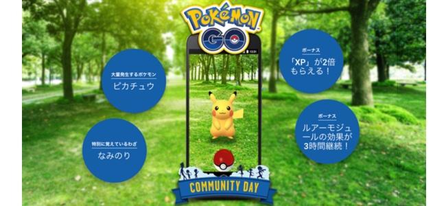 【ポケモンGO】「なみのりピカチュウ」が登場!特定のポケモンが大量発生、地域のプレイヤーが集まって楽しめる「Pokémon GO コミュニティ・デイ」が1月20日に開催!