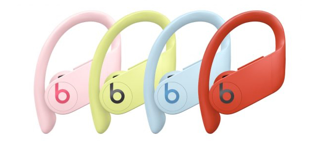 完全ワイヤレスイヤホン「PowerBeats Pro」に淡い4つの新色が追加。米国で6月9日より発売