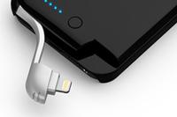 Lightningケーブルを収納したiPhone 5用バッテリーケース「MiLi Power Spring 5」