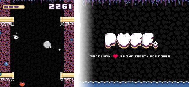 飛び続けろ!撃ち続けろ!ジャンプとショットの反動で空を舞い戦い続ける懐かしいテイストのアクションゲーム「Puff.」