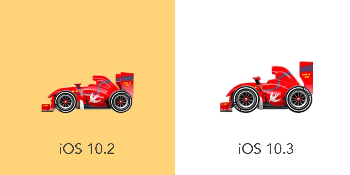 racing-car-ios-10.3-emoji-emojipedia