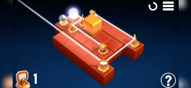 光を反射で軌道を変えて・集めて・導くパズルゲーム「Raytrace Lite」レビュー