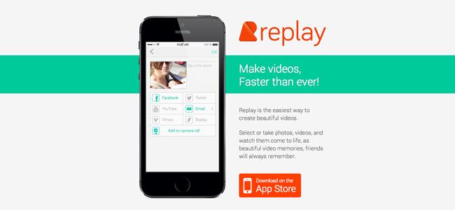 美しいムービーが簡単に作れる!写真や動画を選択するだけのムービー編集ツール「Replay」