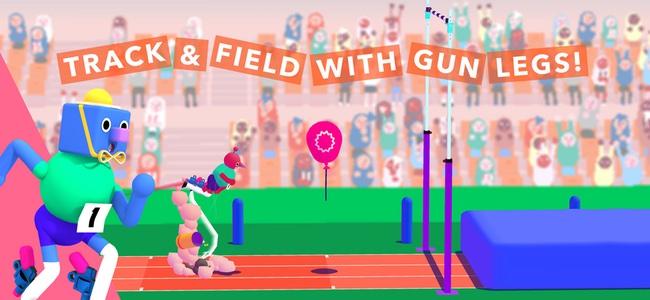 足に銃をくくりつけて反動で跳ぶ、そして空中で撃つ。バカバカしいけどちょっと憧れる新感覚スポーツ競技風アクション「Run Gun Sports」