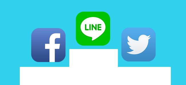 スマホアプリ利用に関する調査で、SNSではLINEが一番多いという結果に