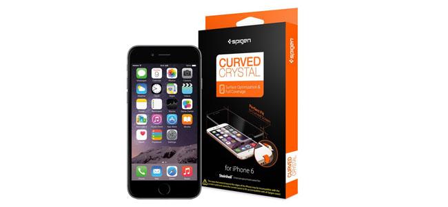 iPhone 6の曲面ディスプレイ全てを覆うことのできる保護フィルム「Spigen カーブド・クリスタル」