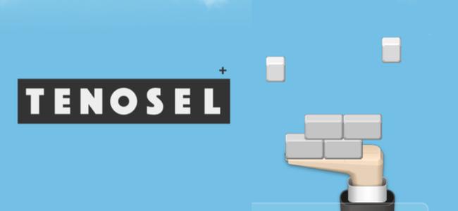 全消しすると気持ちがいい!手のひらにブロックを乗せるパズルゲーム「TENOSEL+」
