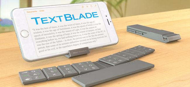 3つのパーツに分離してポケットにもスッポリなワイヤレスキーボード「TextBlade」