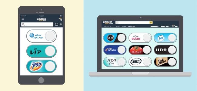 「Amazon Dash Button」なのにボタンが不要!Amazonアプリ内に仮想ボタンを設置していつでも注文できる「バーチャルボタン」が開始!