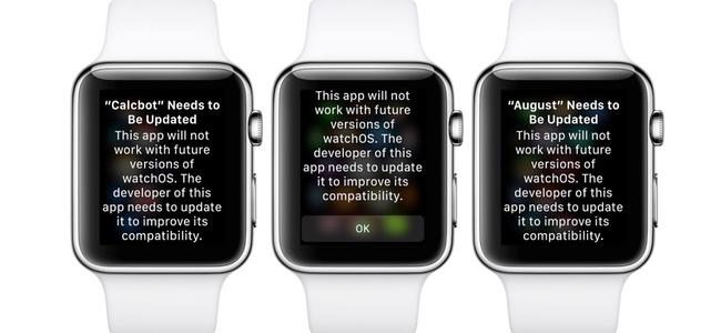 watchOS 5ではApple Watch初期のwatch OS 1用に作られたアプリは動作しないと最新ベータ版で警告が表示