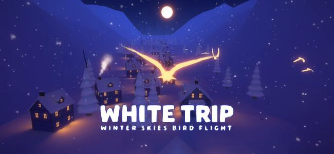 雪深い渓谷を1羽の鳥となって駆け抜けよう。息を呑むほどに美しく幻想的な「ホワイトトリップ -White Trip-」レビュー