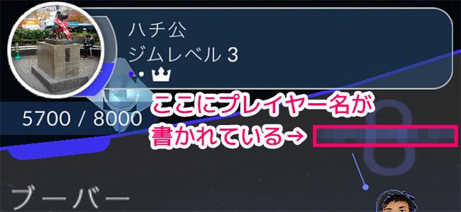 ポケモンGOで身バレに気を付けたい人はプレイヤー名が出ているこの画面もチェック!