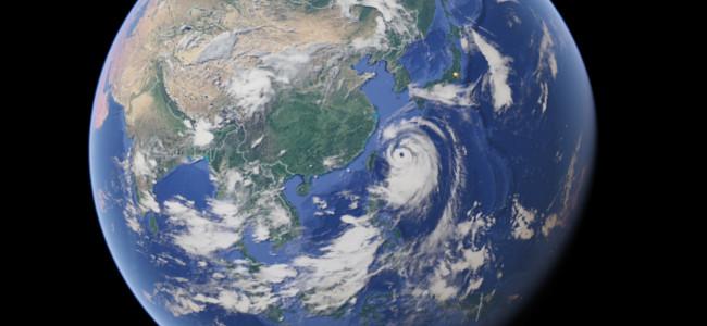超大型台風が接近中!Googleマップで(ほぼ)リアルタイムに衛星写真が確認ができるぞ!