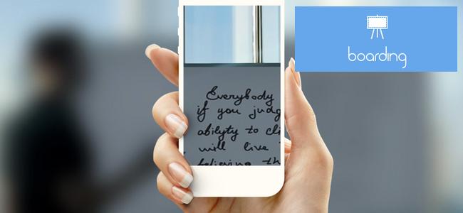 iPhoneカメラで撮ったホワイトボードの写真を最速で共有できるアプリ「Boarding」