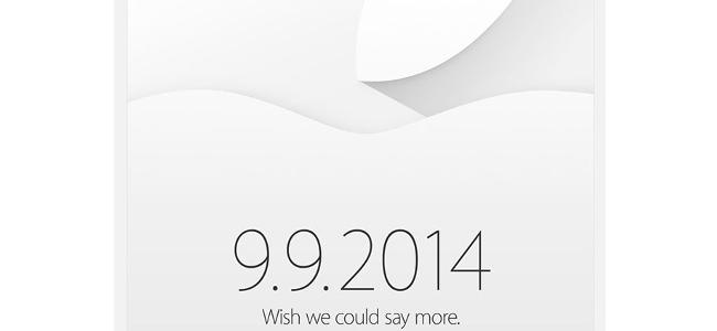 Apple発表会が9月9日に正式決定!日本では10日深夜2時から!ついにiPhoneとiWatch登場!?