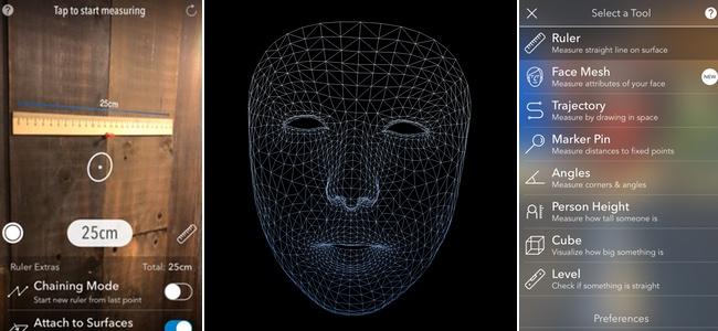 iPhone Xの顔認証をするTrueDepthカメラがどう見えているのか「AR MeasureKit」で見てみよう!