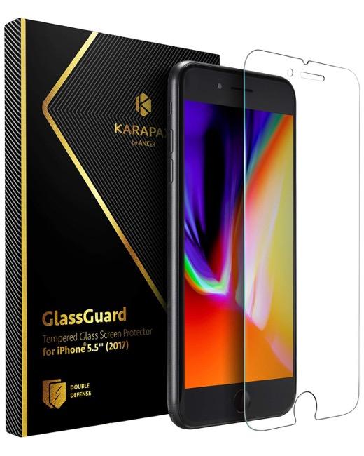 Anker KARAPAX GlassGuard iPhone 8 Plus & 7 Plus 用