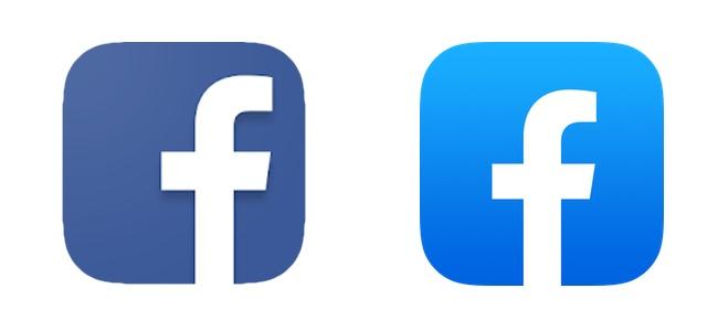 「Facebook」アプリがアップデートでアイコンを変更!青が鮮やかになり「F」の字が中央に
