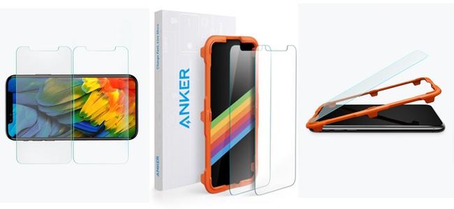 AnkerからiPhone XS/XS Max/MR向けのガラス液晶保護フィルムが発売。薄さ0.33mmで9H高度、2枚組で999円