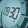 画面を指で押すとベコンとへこむエフェクトまで再現!液晶時計アプリ「Touch LCD」