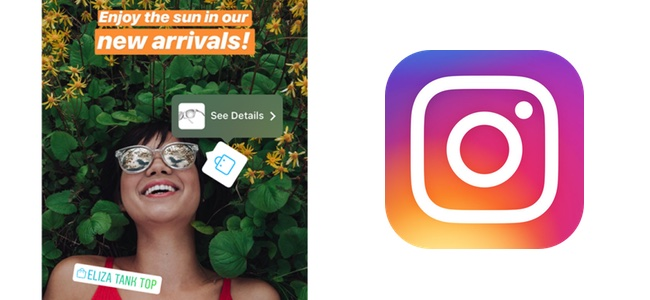 Instagramでストーリーズに投稿された写真に付いたタグから商品の購入が可能に