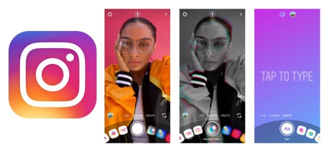 Instagramが新しいカメラのデザインを発表!機能のカテゴリ分けも刷新し使いやすく
