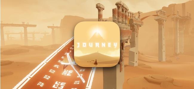 「風ノ旅ビト」のiOS版「Journey」がリリース!広大で美しい世界を自由に冒険しよう!iOS版では二人でのオンラインプレイも可能!