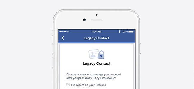 Facebook、死後のアカウントの管理者をしていできる機能「legacy contact」を発表
