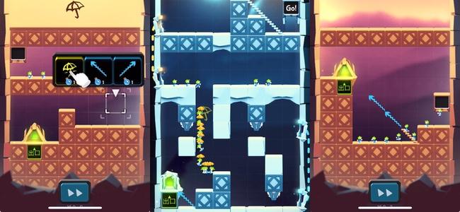 名作ゲーム「レミングス」をアプリで!集団で進み続けるネズミに指示を出してゴールまで導こう!