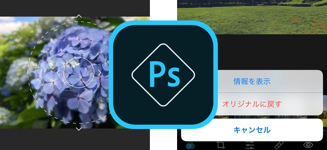 「Adobe Photoshop Express」がアップデートでぼかし処理や加工の一括消去、EXIF情報の表示などに対応