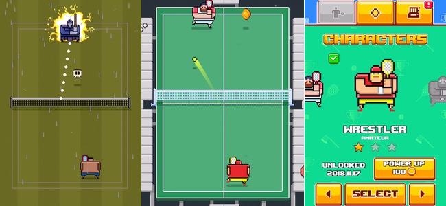 1ミスでお墓行き。ひたすらラリーに耐えて一撃で敵を葬り去るドット絵テニスゲーム「Timber Tennis」