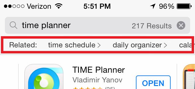 結構便利?Apple、「App Store」の検索結果に関連ワードの表示をテスト中か