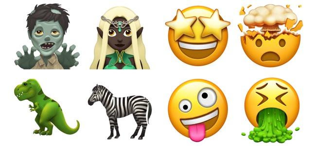Appleが今年後半に追加する絵文字のデザインを発表。ゾンビ、エルフ、恐竜、頭が爆発、ゲ◯などネタ要素が強めで使い勝手が良さそう