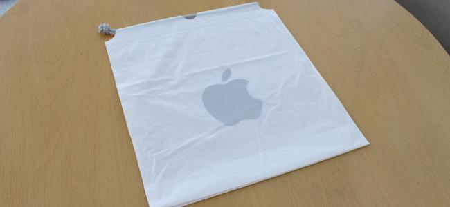 Apple Storeのお買い物時に貰える袋がビニールから紙に変更されるかも。