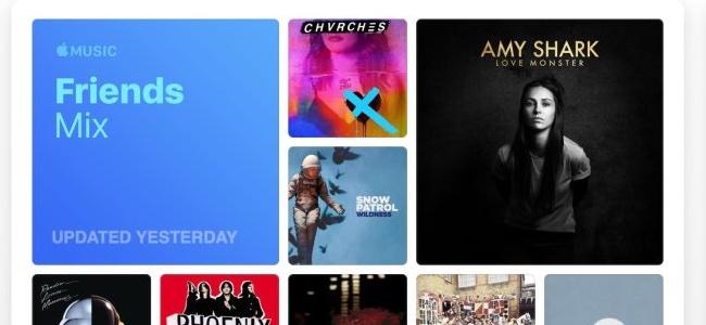 Apple Musicに友だちが聞いている音楽をピックアップする「Friends Mix」が追加